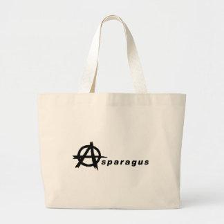 Espárrago con símbolo de la anarquía bolsas