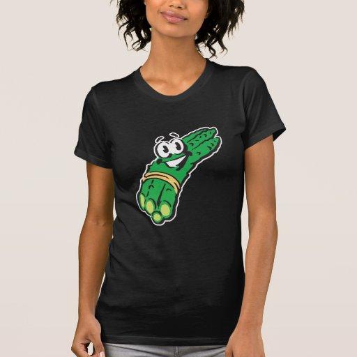 espárrago sonriente feliz camiseta