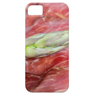 Espárrago verde con macro del jamón funda para iPhone SE/5/5s