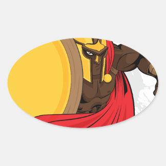 Espartano Pegatinas Ovales