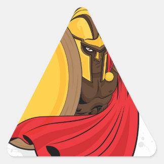 Espartano Calcomania De Trianguladas