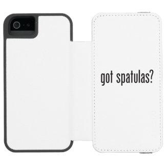 espátulas conseguidas funda billetera para iPhone 5 watson