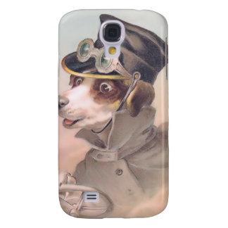 Espec. del chófer 3G del perro del vintage Carcasa Para Galaxy S4