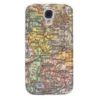 Espec. del mapa 3G del vintage Carcasa Para Galaxy S4