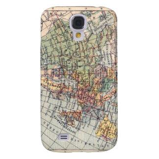Espec. del mapa 3G del vintage Funda Para Samsung Galaxy S4