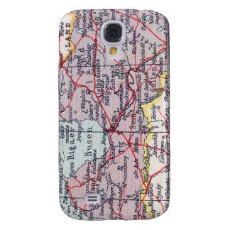 Espec. del mapa 3G del vintage Samsung Galaxy S4 Cover