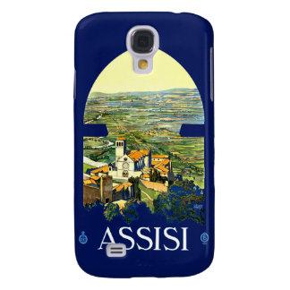 Espec. del viaje 3G de Assisi Italia del vintage Funda Para Samsung Galaxy S4