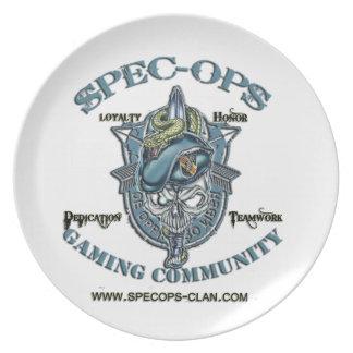 Espec -Ops Comunidad del juego Platos Para Fiestas
