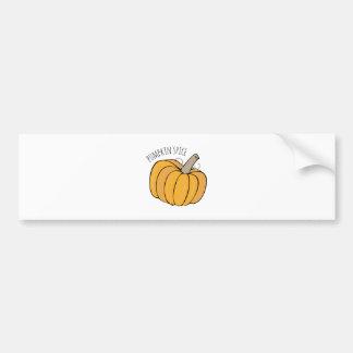 Especia de la calabaza etiqueta de parachoque