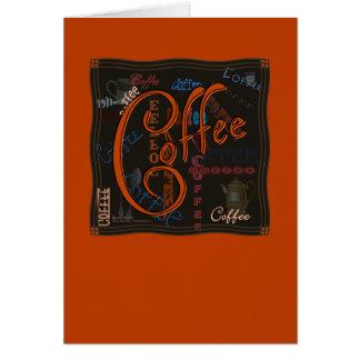 Especia del café felicitaciones