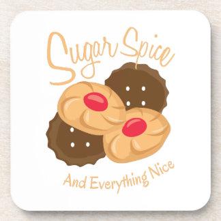 Especia y todo del azúcar noche posavaso