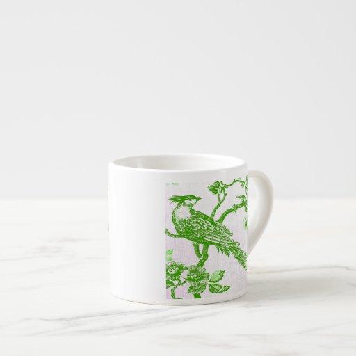 Especialidad de GreenBirdsOnWhiteLinen/taza del ca Tazas Espresso