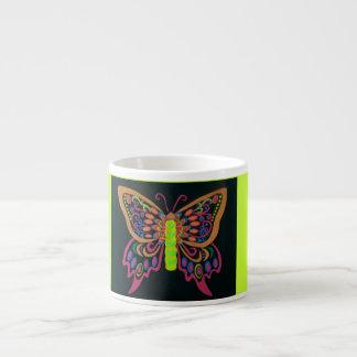 Especialidad de neón de la mariposa Taza-Inspirada Taza Espresso