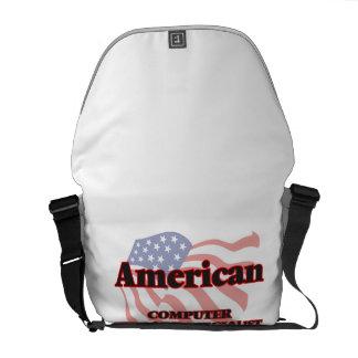 Especialista americano del soporte informático bolsas de mensajería