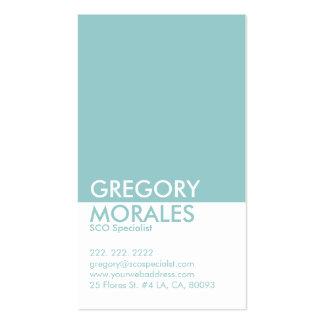 Especialista blanco de Monogramed y azul moderno Tarjetas De Visita
