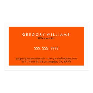 Especialista blanco y anaranjado moderno elegante tarjetas de visita