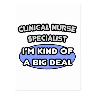 Especialista clínico de la enfermera. Clase de una Postal