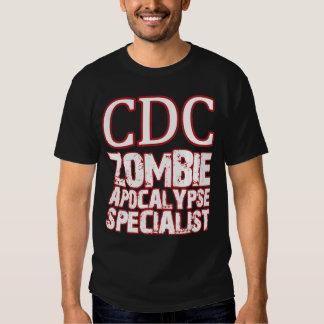 Especialista de la apocalipsis del zombi de la CDC Remera