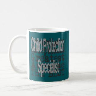 Especialista de la protección del niño taza de café