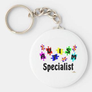 Especialista del autismo llavero personalizado