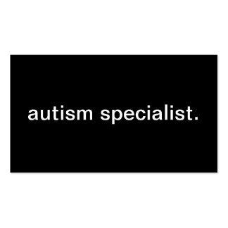 Especialista del autismo tarjetas de visita