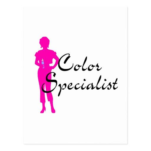 Especialista del color tarjetas postales