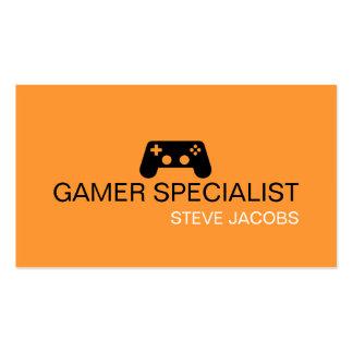 Especialista del videojugador de los videojuegos tarjetas de visita