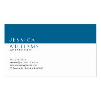 Especialista moderno simple del blanco y de los tarjetas de visita