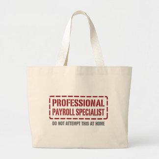 Especialista profesional de la nómina de pago bolsa tela grande