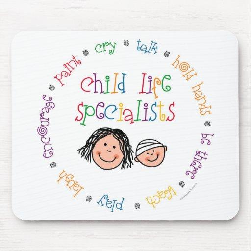 Especialistas Mousepad de la vida del niño
