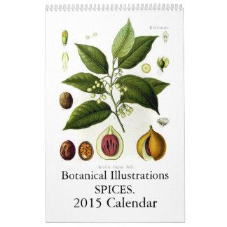 Especias 2015 calendarios de pared
