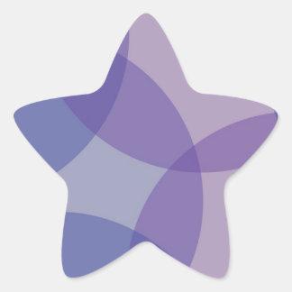 Especias calientes - sombra, Flowrals, puntos, Pegatina En Forma De Estrella