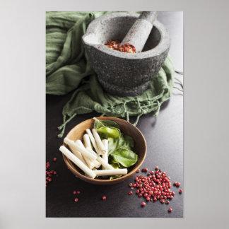 Especias de cocinar tailandesas poster