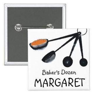 Especias de las cucharas dosificadoras que cocinan pin cuadrado