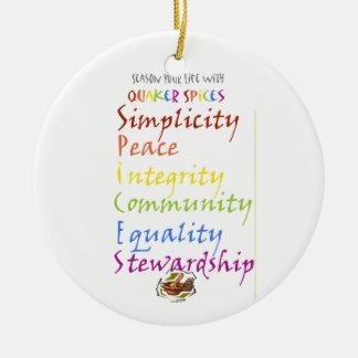 Especias del Quaker Ornaments Para Arbol De Navidad