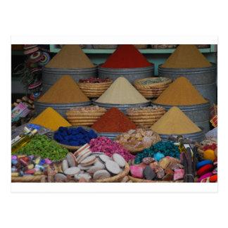 Especias marroquíes tarjetas postales