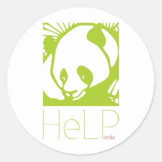 Especie de la prioridad: Panda gigante Pegatina Redonda