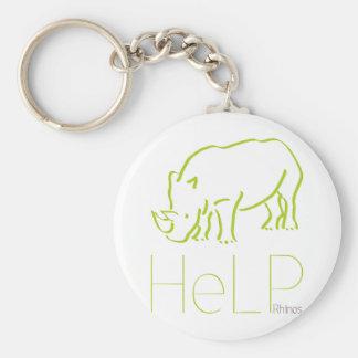 Especie de la prioridad: Rhinos Llavero Redondo Tipo Pin