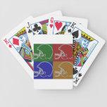 especie de pop Helmet Baraja Cartas De Poker