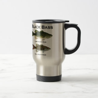 Especie del bajo negro bocazas - smallmouth taza de café