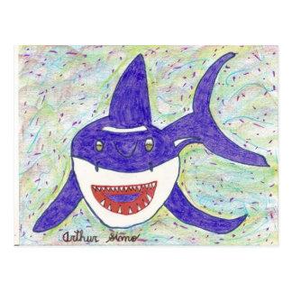 Especie del tiburón postal