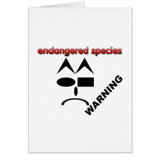 Especie en peligro - advirtiendo tarjeta de felicitación