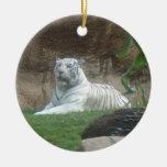 Especie en peligro ~ blanco del ornamento del tigr ornamente de reyes