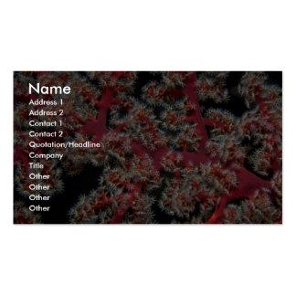 Especie hermosa de coral suave del wate profundo tarjetas de visita