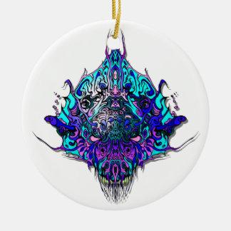 Especie malvada principal extranjera 44 - azul y ornamento para arbol de navidad