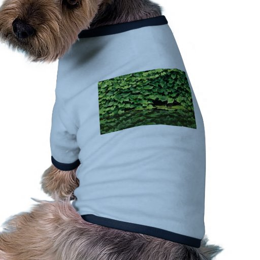 Especie verde de la hiedra en agua camiseta con mangas para perro
