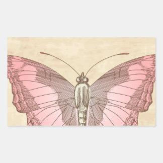 Espécimen de la mariposa de emperador pegatina rectangular