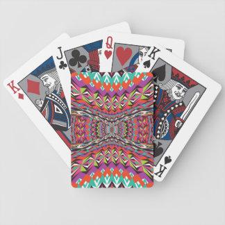 Espectacular - diseño azteca baraja de cartas bicycle