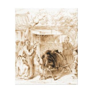 Espectáculo de marionetas 1860 impresiones de lienzo