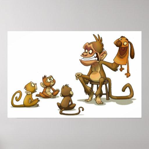 Espectáculo de marionetas del mono poster